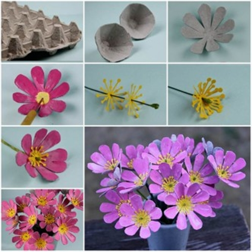 Butterfly Flowers from egg carton F Wonderful DIY Butterfly Flowers From Egg Carton