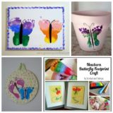 Wonderful DIY Butterfly Footprint Artwork