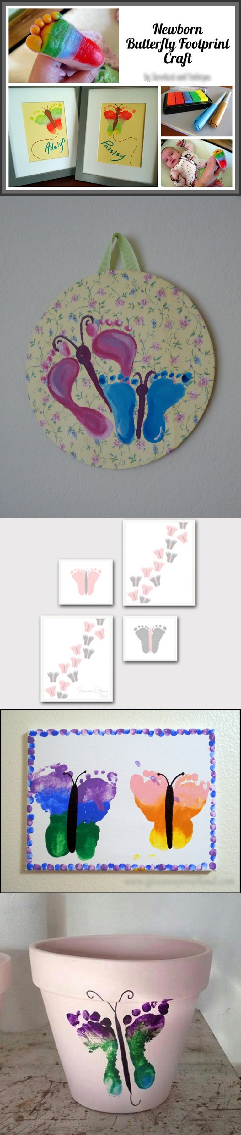 Butterfly Footprint Artwork M Wonderful DIY Butterfly Footprint Artwork