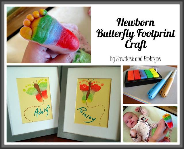 Butterfly Footprint Artwork  Wonderful DIY Beautiful Butterfly Frame Wall Art