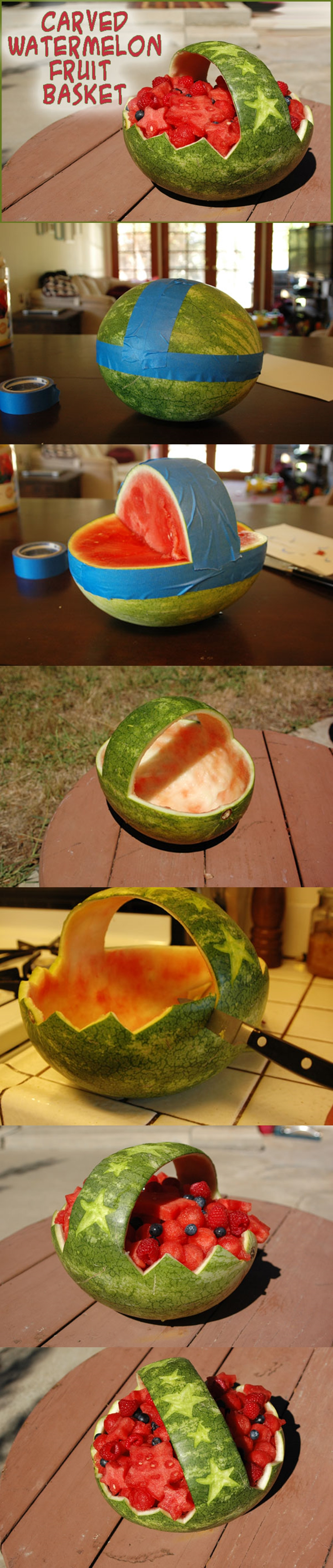 Carved Watermelon Basket M Wonderful DIY Watermelon Basket