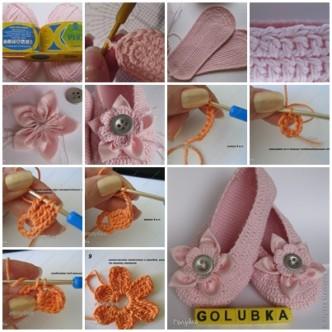 Wonderful Diy Crochet Ballet Slippers