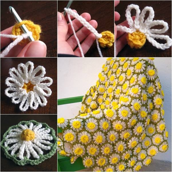 Crochet Daisy Motif Blanket f Wonderful DIY Crochet Vintage Daisy Motif