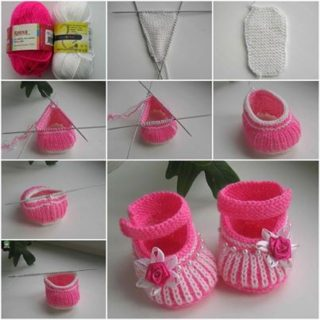 Wonderful DIY Cute Knit Baby Booties
