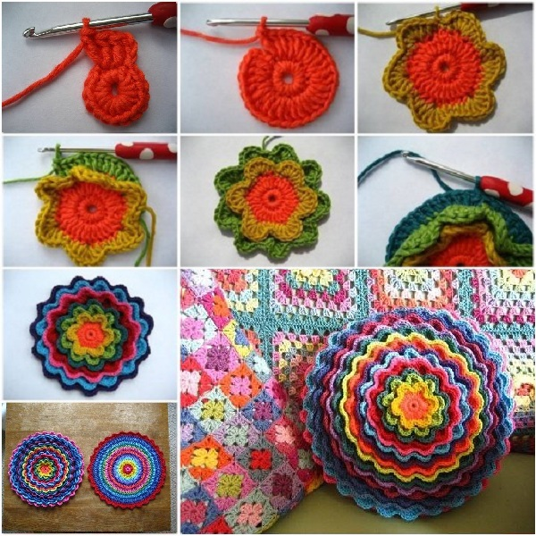 Wonderful Diy Crochet Flower Cushion