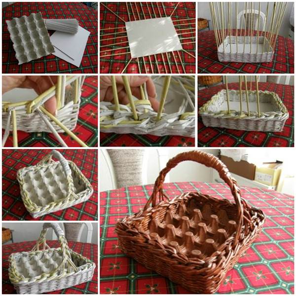 DIY Easter Egg Basket f Wonderful DIY Easter Egg Basket From Newspaper