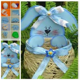 Wonderful DIY Yarn String Easter Basket