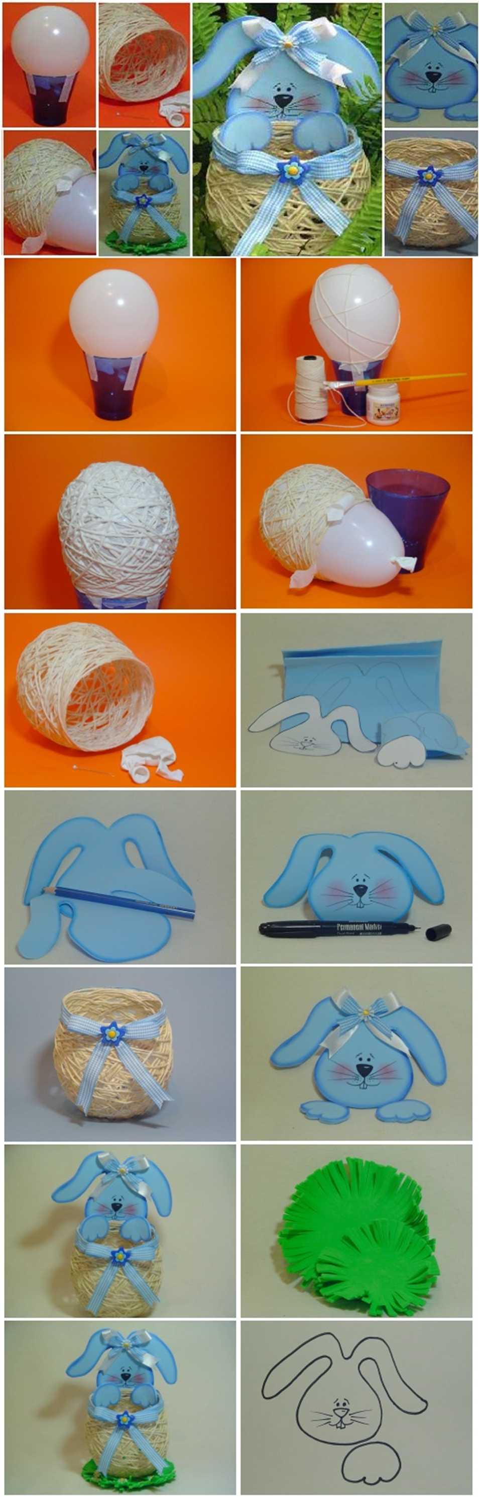 Easter Basket out of Yarn String M Wonderful DIY Yarn String Easter Basket
