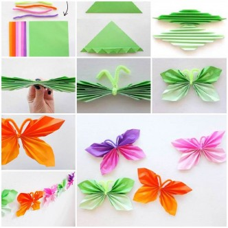 Easy Folded Paper Butterflies F
