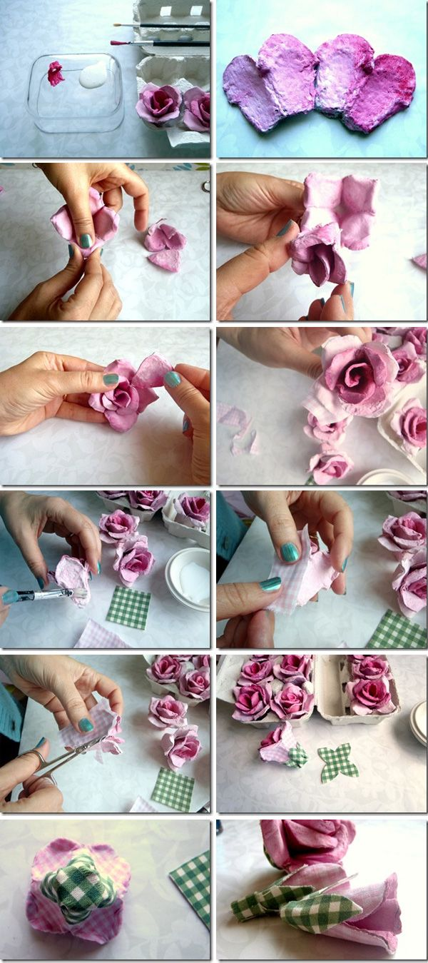 Egg Cartons Turned Flowers