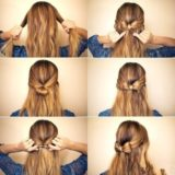 Wonderful DIY Elegant Bow Braided Hairstyle