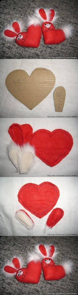 Heart Bunny M Wonderful DIY Cute Heart Bunny
