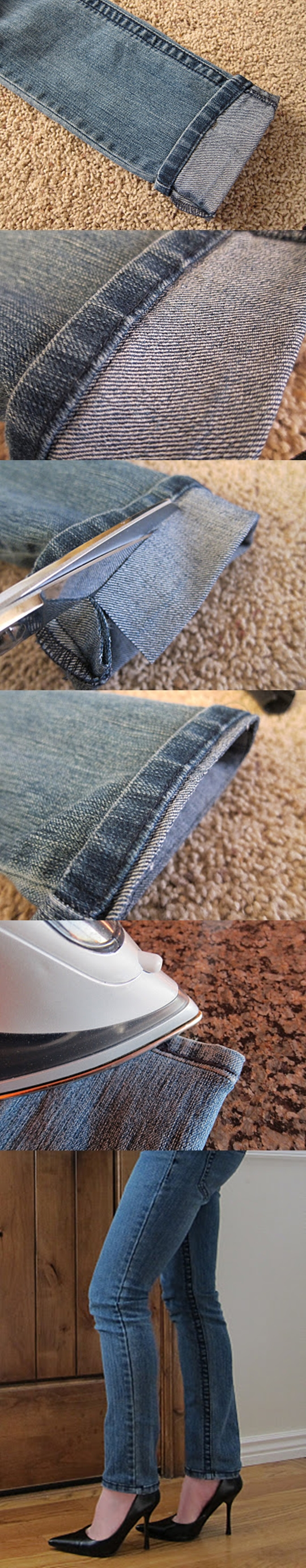 Hem Jeans M Wonderful DIY Shorten Long Jeans But Keeping The Orignal Hem
