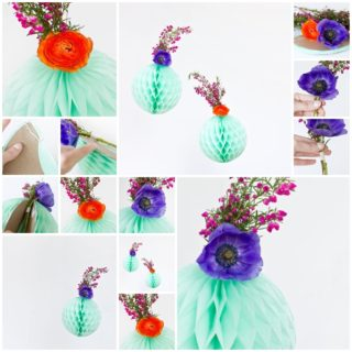 Wonderful DIY Flower Honeycomb Party Decor