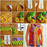 Wonderful DIY Hook Knit Scarf