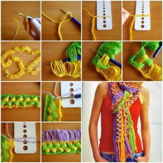 Wonderful DIY Hook Knit Scarf
