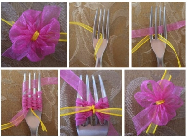 How To Make a Bow With a Fork Wonderful DIY Making a Bow With a Fork