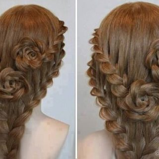 Luxurious Lace Braid Rose Hairstyle Guide