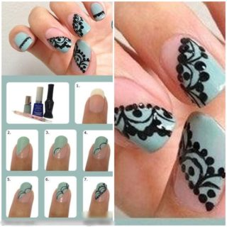 Wonderful DIY beautiful Lace Nail