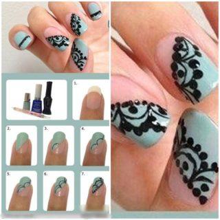 Wonderful DIY beautiful Lace Nail