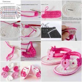 Wonderful DIY Crochet Lovely Baby  Slippers