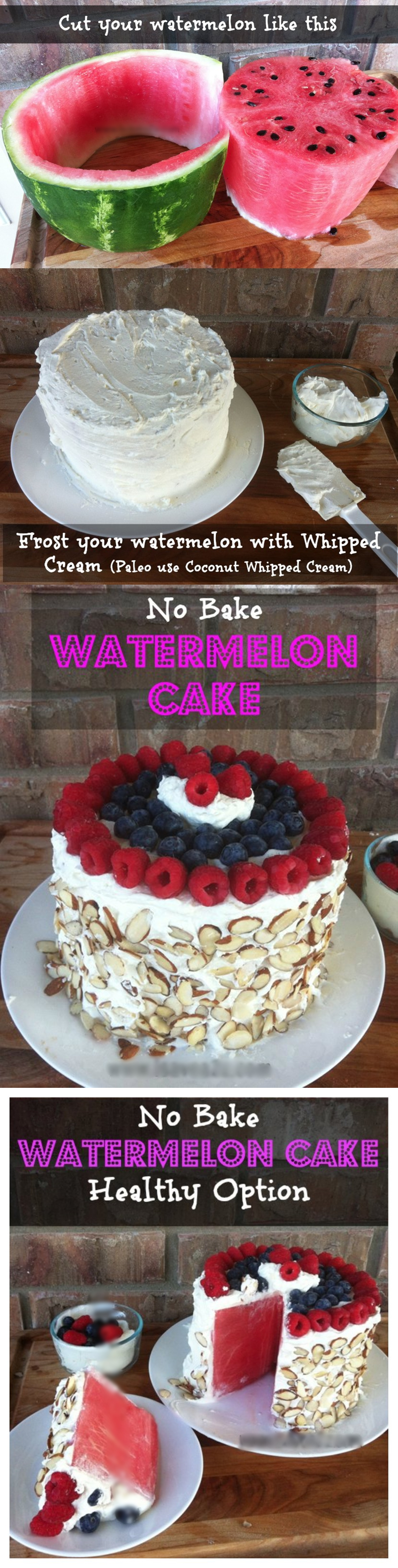 No Bake Watermelon Cake M Wonderful DIY No Bake Watermelon Cake
