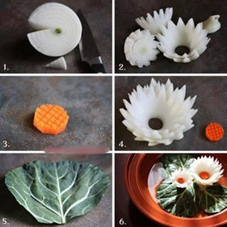 Wonderful DIY Beautiful Lotus Flower From Onion