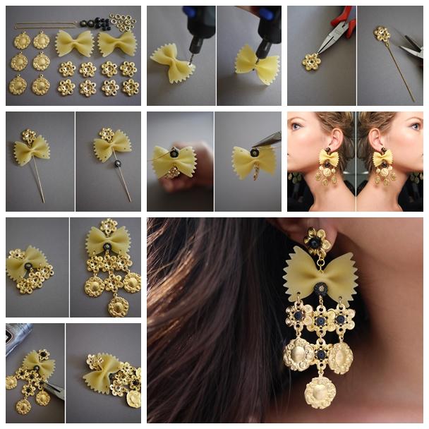 Pasta earrings F Wonderful DIY Pasta Earring