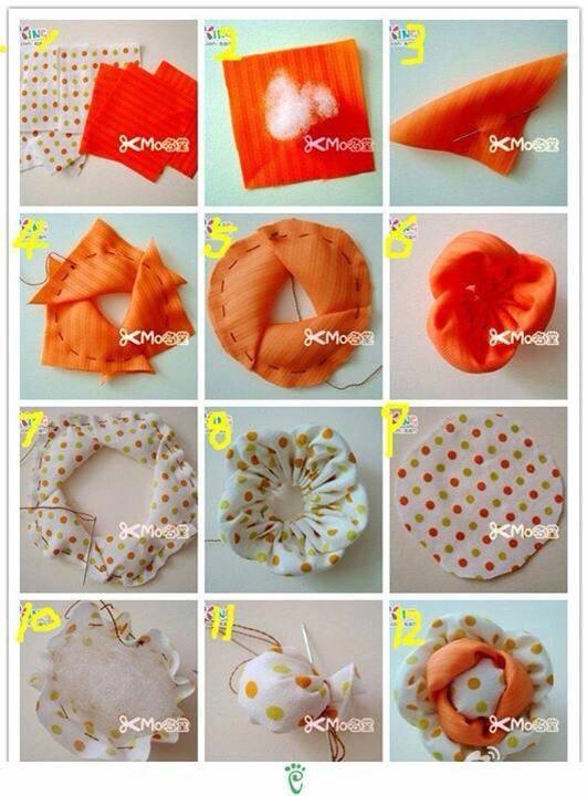 Piccolo tutorial dal web Wondeful DIY Beautiful Fabric Flower
