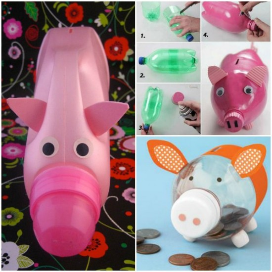 Plastic-Bottle-piggy Bank-wonderfuldiy
