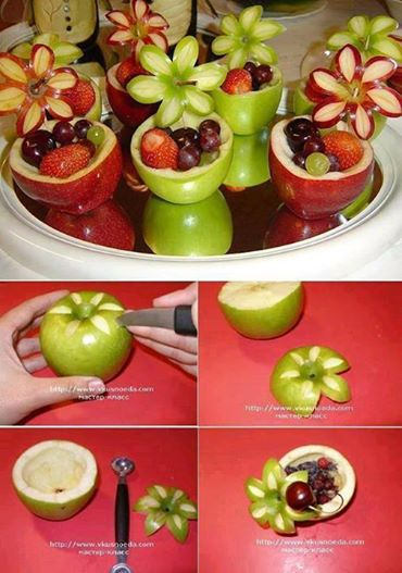 Pretty fruits bowls Wonderful DIY Pretty Apple Bowls