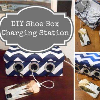 Wonderful DIY Charging Station From Shoe Box