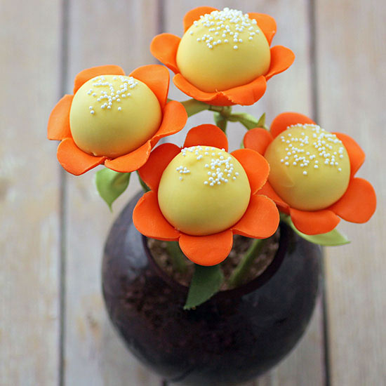 Spring Flower Cake Pops Wonderful DIY Spring Flower Cake Pops