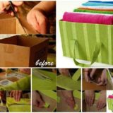 Wonderful DIY Storage Tote from Carboard