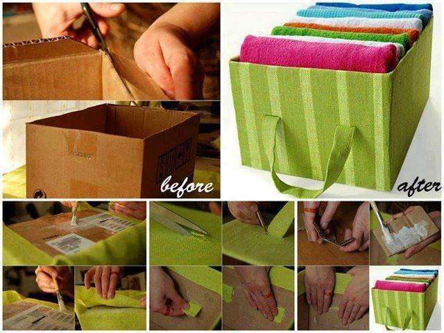 Storage Tote F Wonderful DIY Storage Tote from Carboard