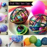 Wonderful DIY Treat Filled String Easter Egg