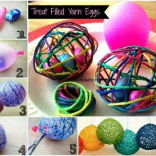 Wonderful DIY Treat Filled String Easter Egg