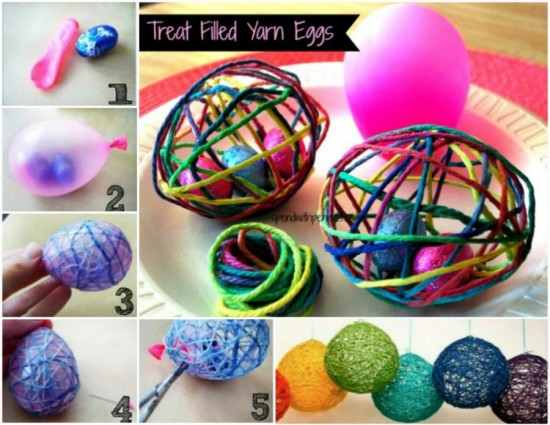 Treat Filled Yarn Eggs -wonderfuldiy f