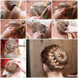 Weaving Braids Around The Tail F Wonderful DIY Beautiful Braids Around The Tail