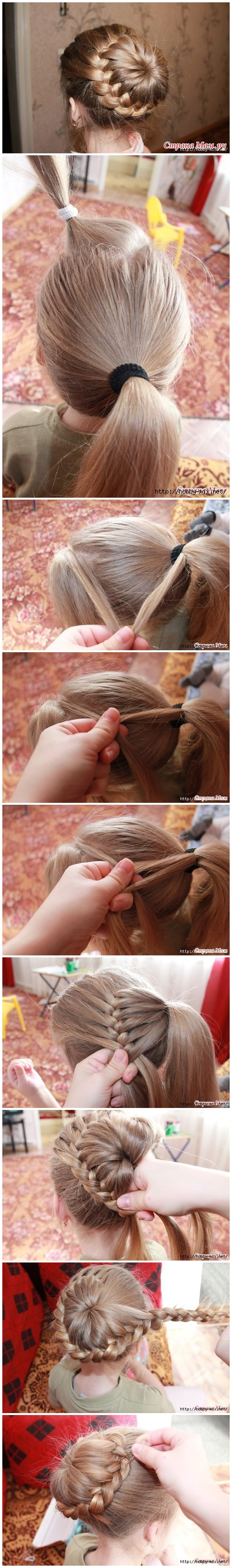 Weaving Braids Around The Tail M Wonderful DIY Beautiful Braids Around The Tail