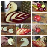 Wonderful DIY Edible Apple Swan