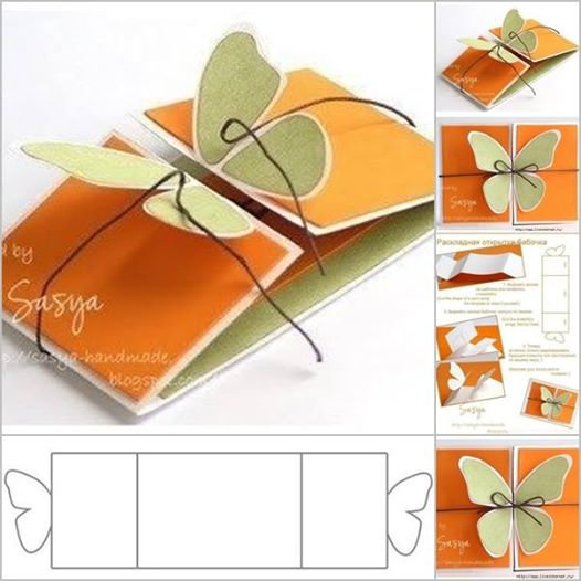 butterfly greeting card Wonderful DIY Butterfly Greeting Card
