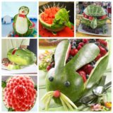 Wonderful Carved Watermelon Design