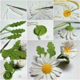 Wonderful DIY Crochet 3D Daisy Flower