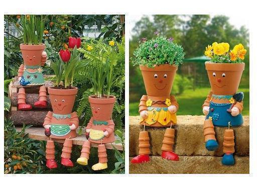 Diy Garden Pots Wonderful diy clay pot flower people view in gallery diy clay pot flower people easy to make clay flowerpot people bring life to your workwithnaturefo