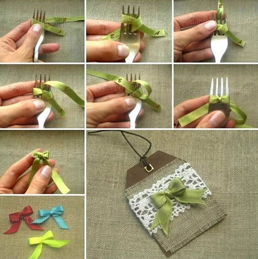 fork bow Wonderful DIY Cute Christmas Tree hair  Clip