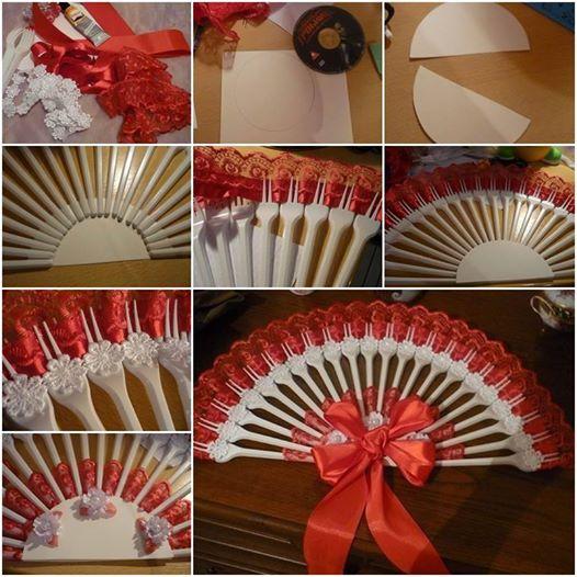 handmade fan   from plastic forks