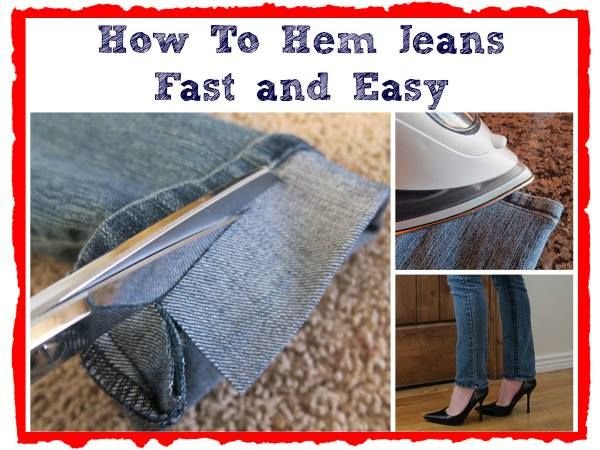 how to hem jeans fast and easy Wonderful  DIY for Cutting Your Own Hair Easily