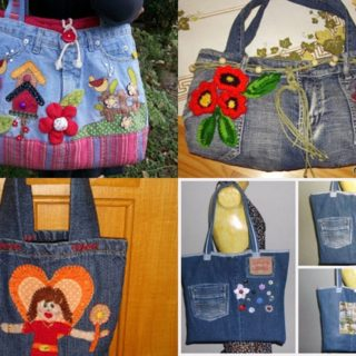 Wonderful DIY Beautiful Handbag from Used Jeans