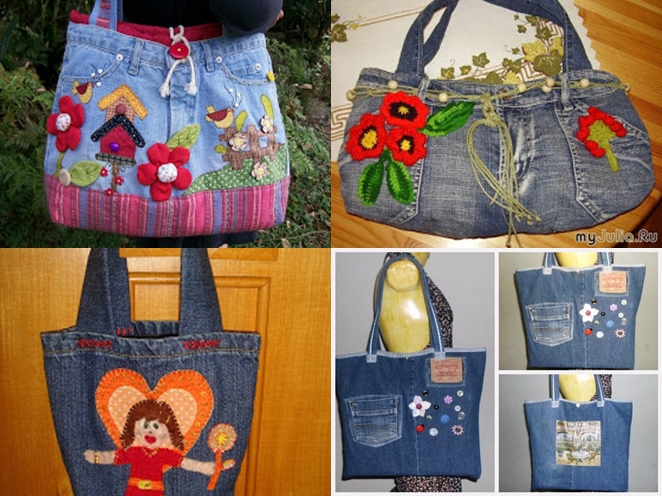 jeans handbag F Wonderful DIY Beautiful Handbag from Used Jeans
